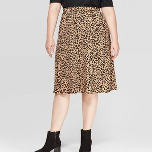 Ava & Viv animal print midi skirt cheetah